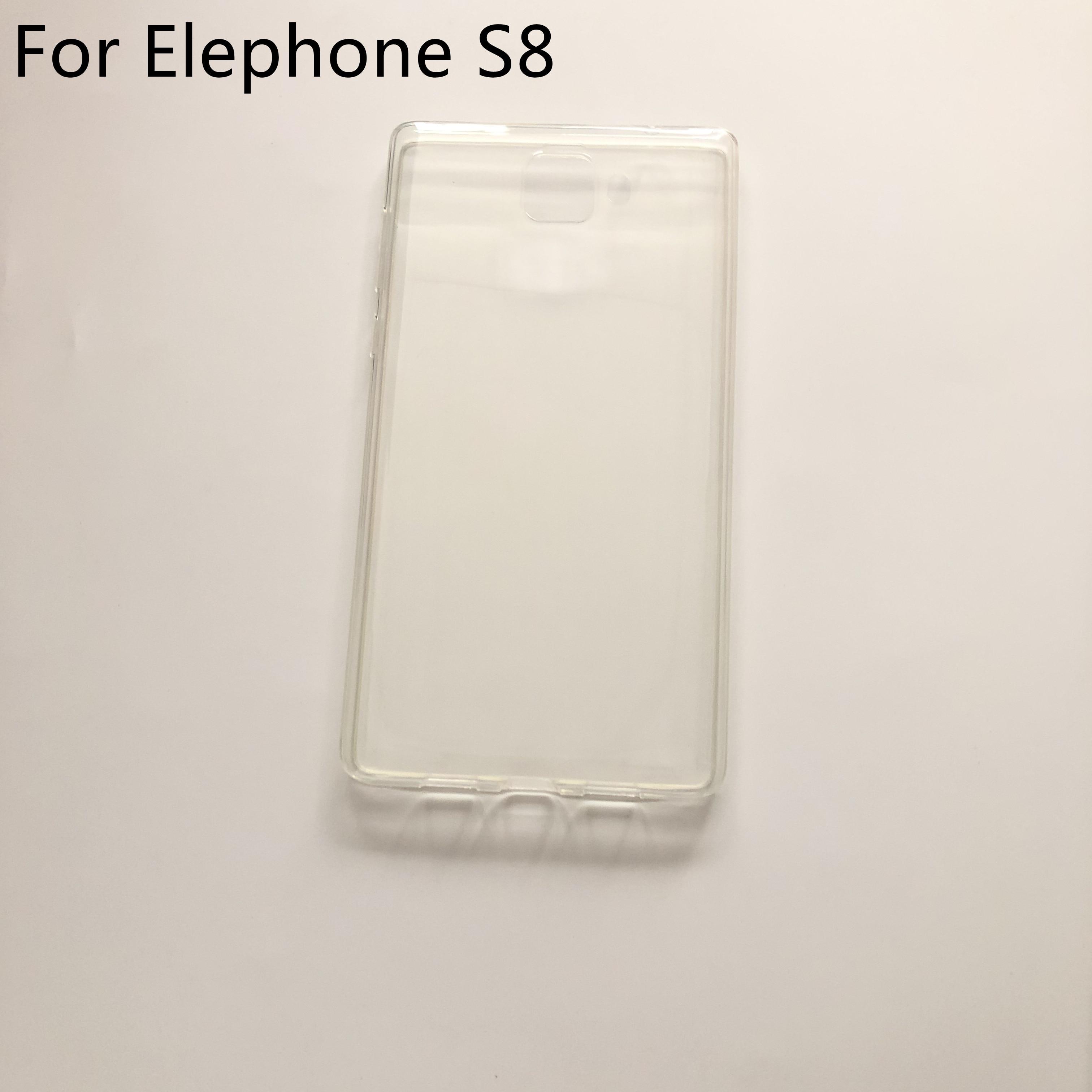 Usado tpu silicone caso claro caso macio para elephone s8 mtk helio x25 deca núcleo 6.0 Polegada fhd 2560x1440 + número de rastreamento