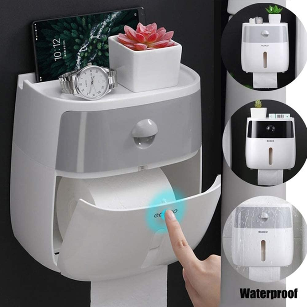 Toilet Tissue Box Waterproof Roll Paper Stand Wall Mounted Paper Holder Bathroom Kleenex Tube Storage Box Bath Storage Case недорого
