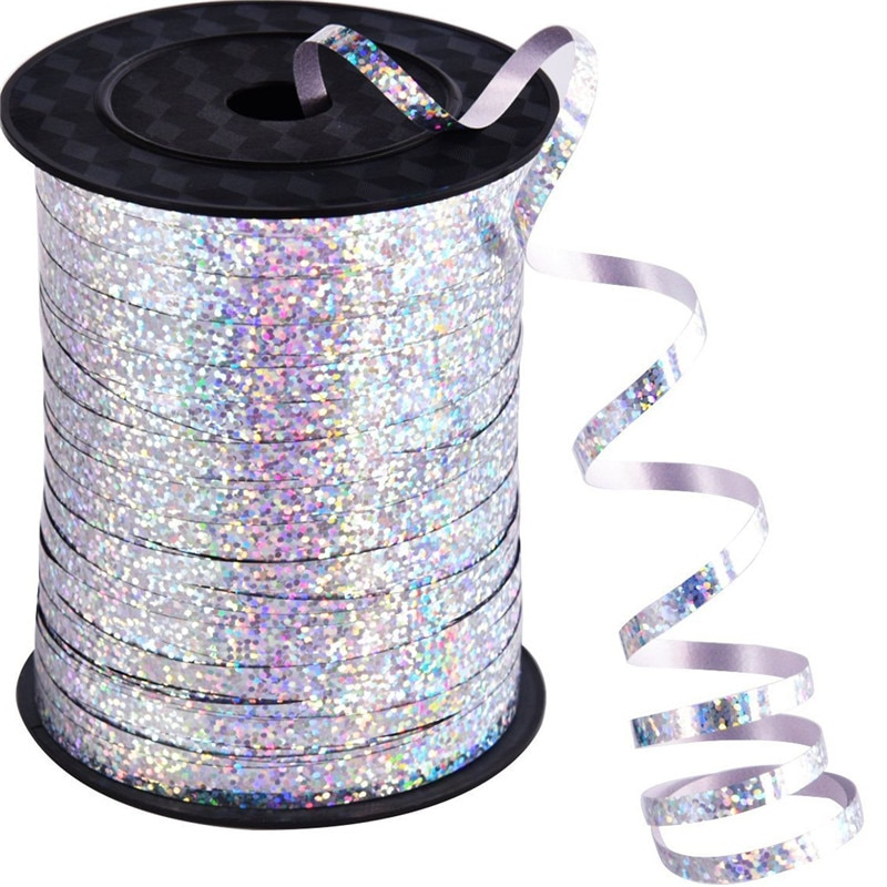 Balloons Ribbons Laser Ribbon for Party Decoration Birthday Gifts DIY Packing Wedding Decoration Foi