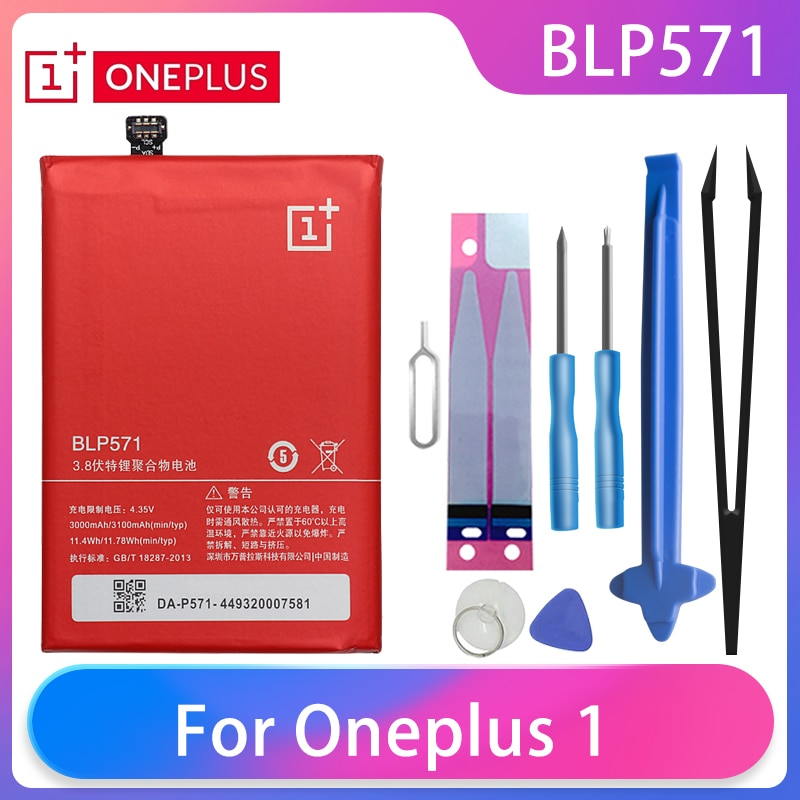 Original Oneplus 1 A0001 Phone Battery BLP571 3100mAh High Capacity One Plus Phone Batteries Free Tools Phone AKKU недорого