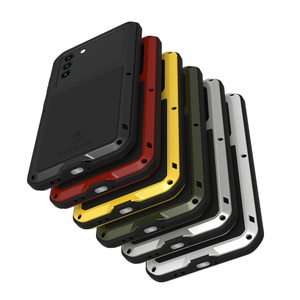 Image 4 - Металлический чехол для Samsung s21 Plus, чехол для телефона, сверхпрочная защита, стеклянный чехол для Samsung galaxy S21, противоударные чехлы