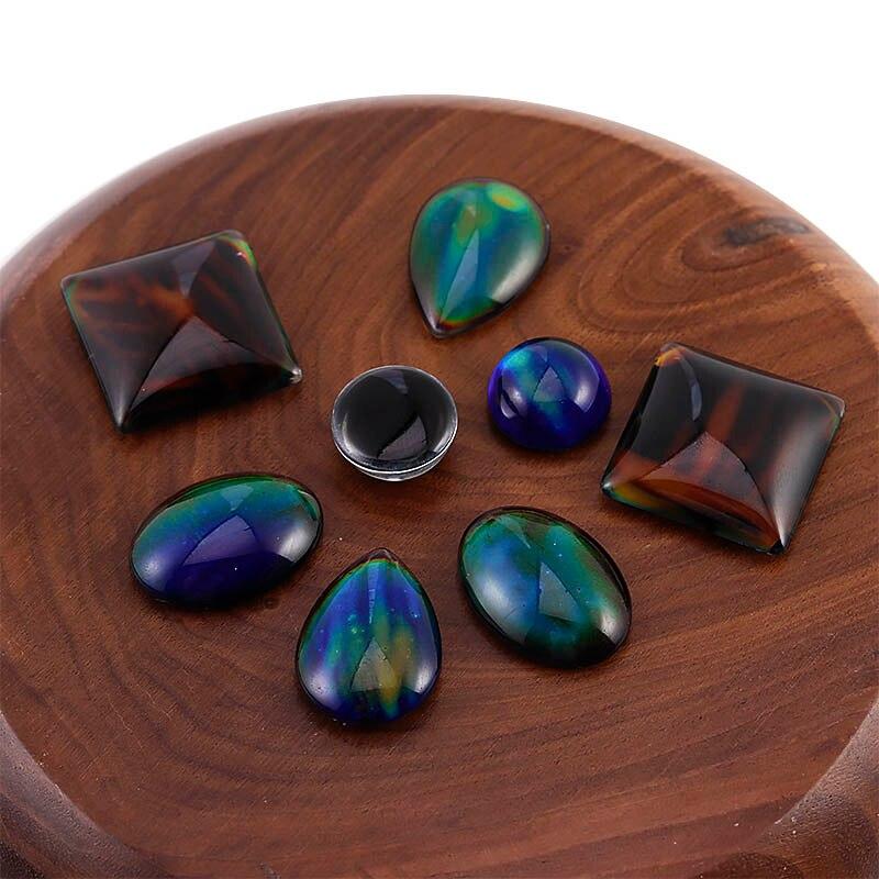 5 uds accesorios mágicos cabujón suministros de ajuste cambio de Color por temperatura cuadrado redondo forma ovalada para hacer joyería DIY