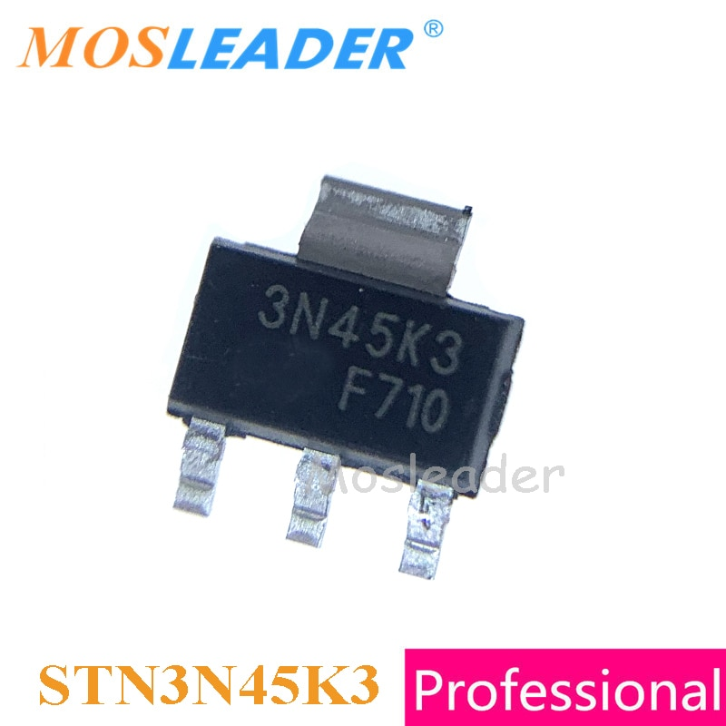 Mosleader STN3N45K3 SOT223 100 قطعة 1000 قطعة مصنوعة في الصين N-قناة 450 فولت 3N45 جودة عالية