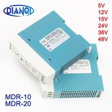 Mini Size Single Output Industrial DIN Rail switching Power Supply ac dc MDR 10W 20W driver output 5V 12V 15V 24V 36V 48V