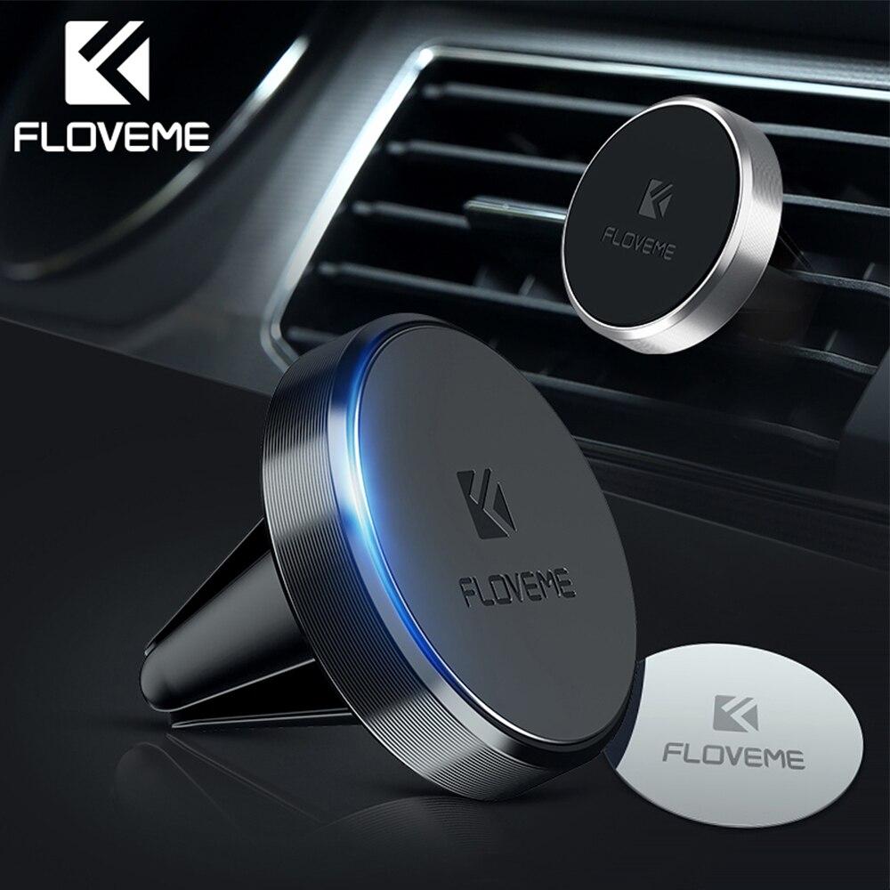 Floveme держатель для телефона в машину попсокет для телефона Магнитная автомобильный держатель телефона для iPhone Xiaomi магнит Air Vent Outlet автомобиль-Стайлинг крепление попсокет подставкой подставка для телефона