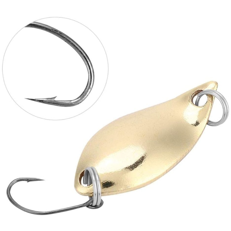 1 Pcs Metal Gold Sliver  Fishing Lure2.5G-5G Sequined Hard Baits Noise Paillette with Feather for Sea Lures Tool Wobbler Spinner