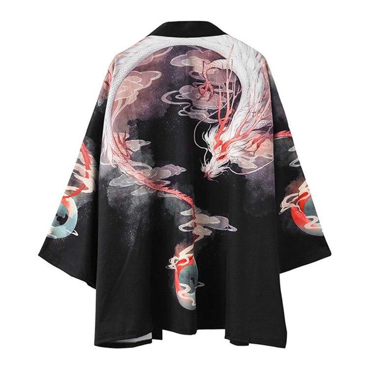 Kimono femenino cárdigan tradicional Ukiyoe Surplices China largo hombres capa suelta Kimono japonés hanbok mujer estampado