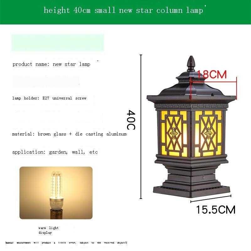 Ogrodowa Lampy Ogrodowe Lamp Bahce Aydinlatma LED Lampara Luce Para Lighting Decoracion Jardin Exterior Outdoor Garden Light enlarge