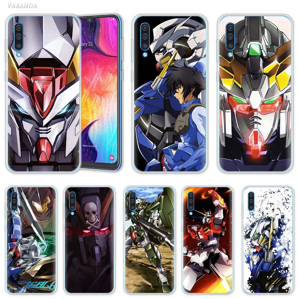 Anime Gundam 00 caso para Samsung Galaxy A50 A20e A70 A80 A90 5G A40 A30 A20 s A10 e A9 A7 A8 A6 2018 del teléfono del TPU del Coque