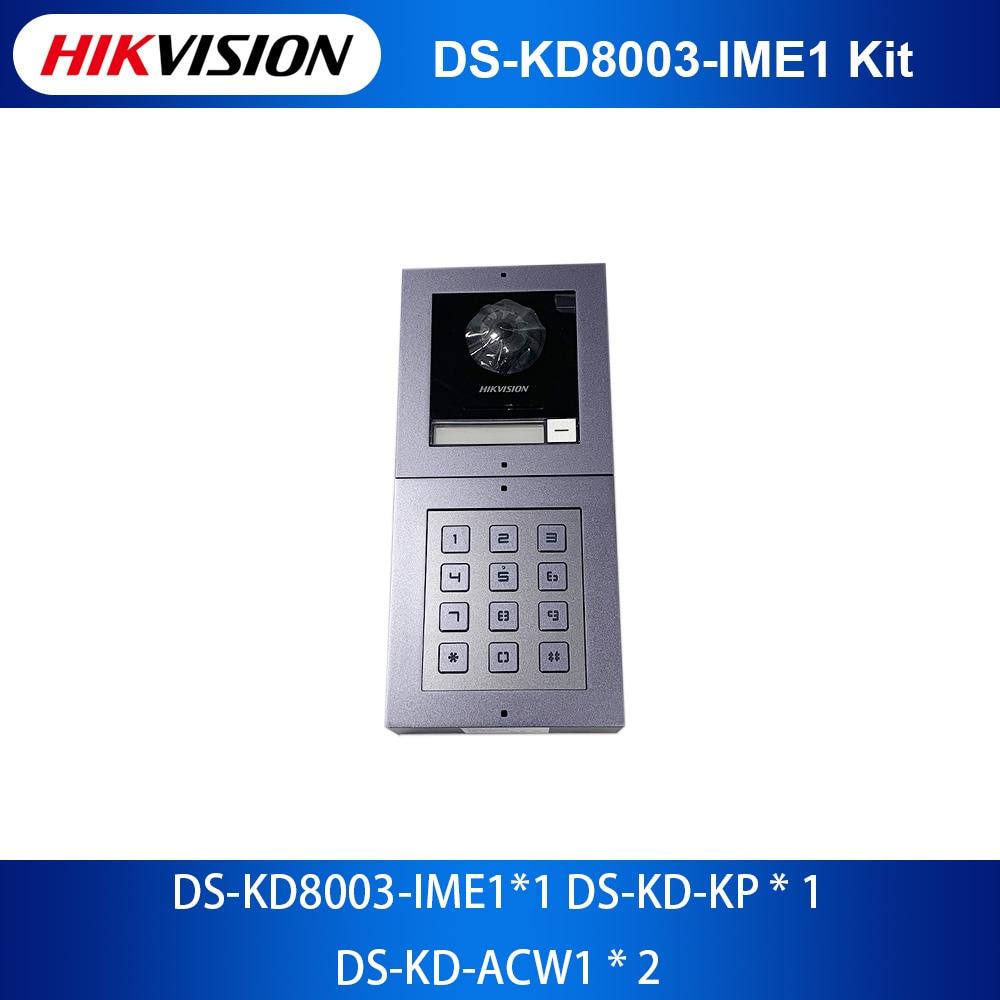 Оригинальный видеодомофон Hikvision, модуль клавиатуры, DS-KD-KP и комплектация аксессуаров посылка для DS-KD-ACW1