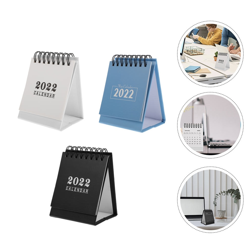Настольные календари 3 шт., настольные календари, декоративные школьные календари (разные цвета)