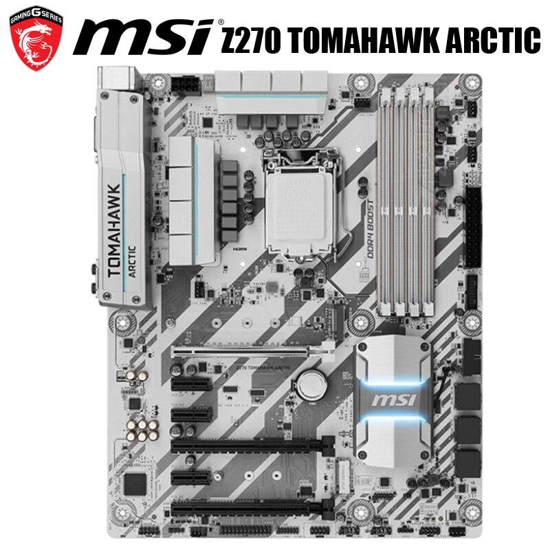LGA 1151 MSI Z270 TOMAHAWK ARCTIC Motherbaord Intel Z270 1151 DDR4 оригинальная настольная Материнская плата MSI Z270 1151 M.2 PCI-E 3,0 б/у