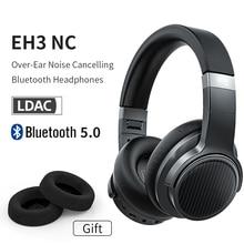 FiiO EH3NC suppression du bruit Bluetooth 5.0 sur loreille Hi-Fi écouteurs de basse profonde avec aptX LL/aptX HD/LDAC/support micro, 50H de jeu