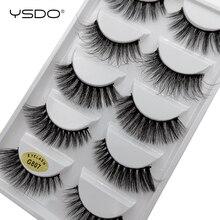 5 Pairs Multipack 3D Mink EyeLashes Natural Hair False EyeLashes Long eye Lash MakeupFake Lashes Cilios Lashes Lifelike G807