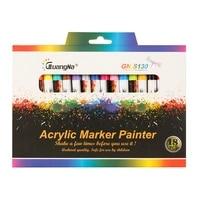 gn 1218 colors 0 7mm acrylic paint marker pen art marker pen for ceramic rock glass porcelain mug wood fabric canvas painting