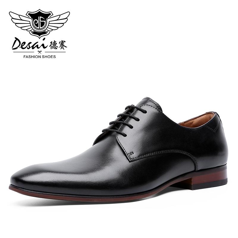 الرجال فستان أحذية الدانتيل متابعة جلد أكسفورد الكلاسيكية الحديثة الرسمي الأعمال فستان مريح أحذية للرجال