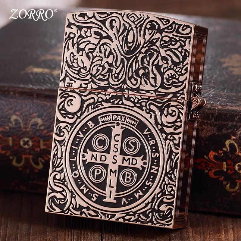 Zorro شخصية ريترو الثقيلة قسطنطين فيلم 1:1 نسخة من هدايا الرجال ولاعات الكيروسين لإرسال هدية صديقها