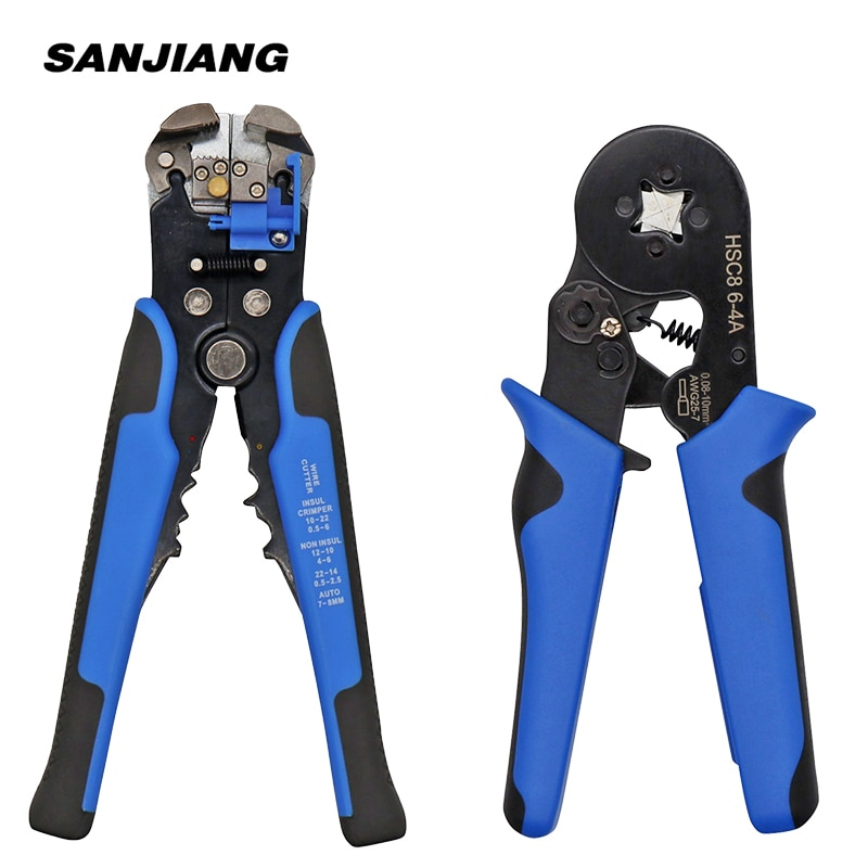 HS-D1 HSC8 6-4 Crimper Cable Cutter Automatic Wire Stripper Multifunctional Stripping hand Tools Crimping Pliers Terminal