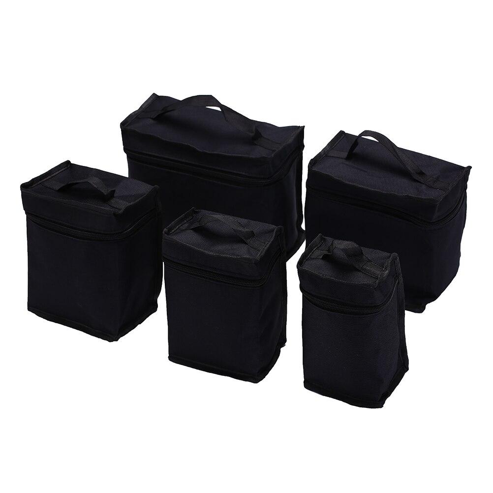 Folding Art Markers Zipper Canvas Storage Pencil Bag Hold 36/48/60/80pcs Markers Pen Large Capacity
