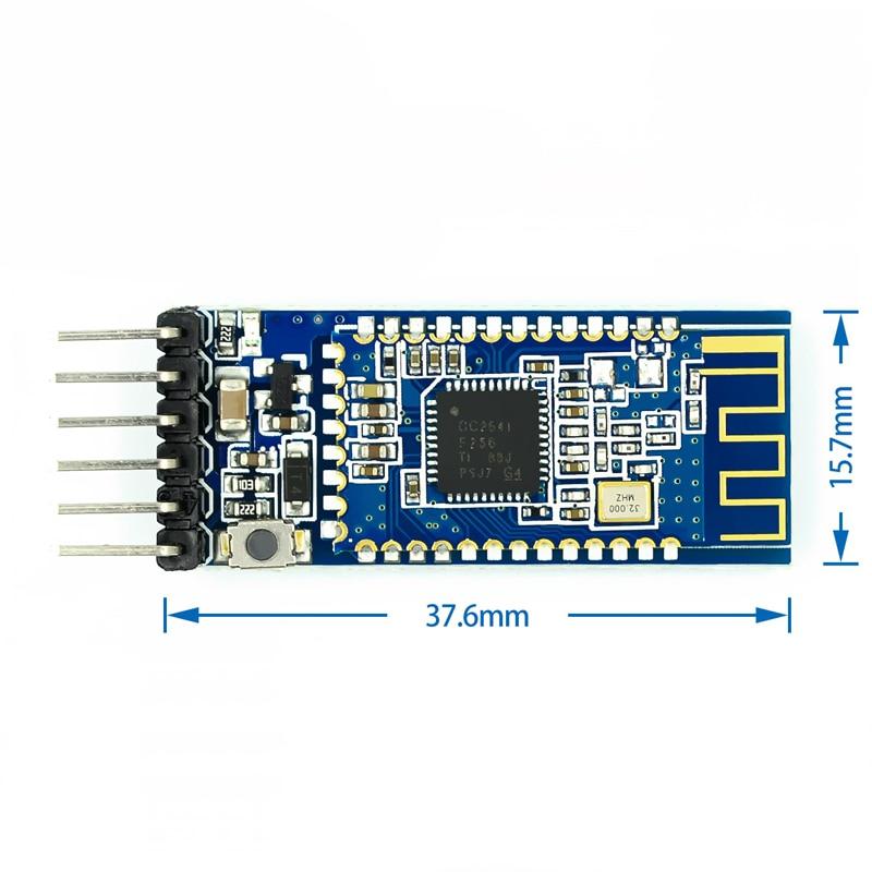 10 unidades AT-09 Módulo Bluetooth 4,0 BLE puerto serial lleva a CC2541 compatible con módulo de HM-10 conectado a un solo chip