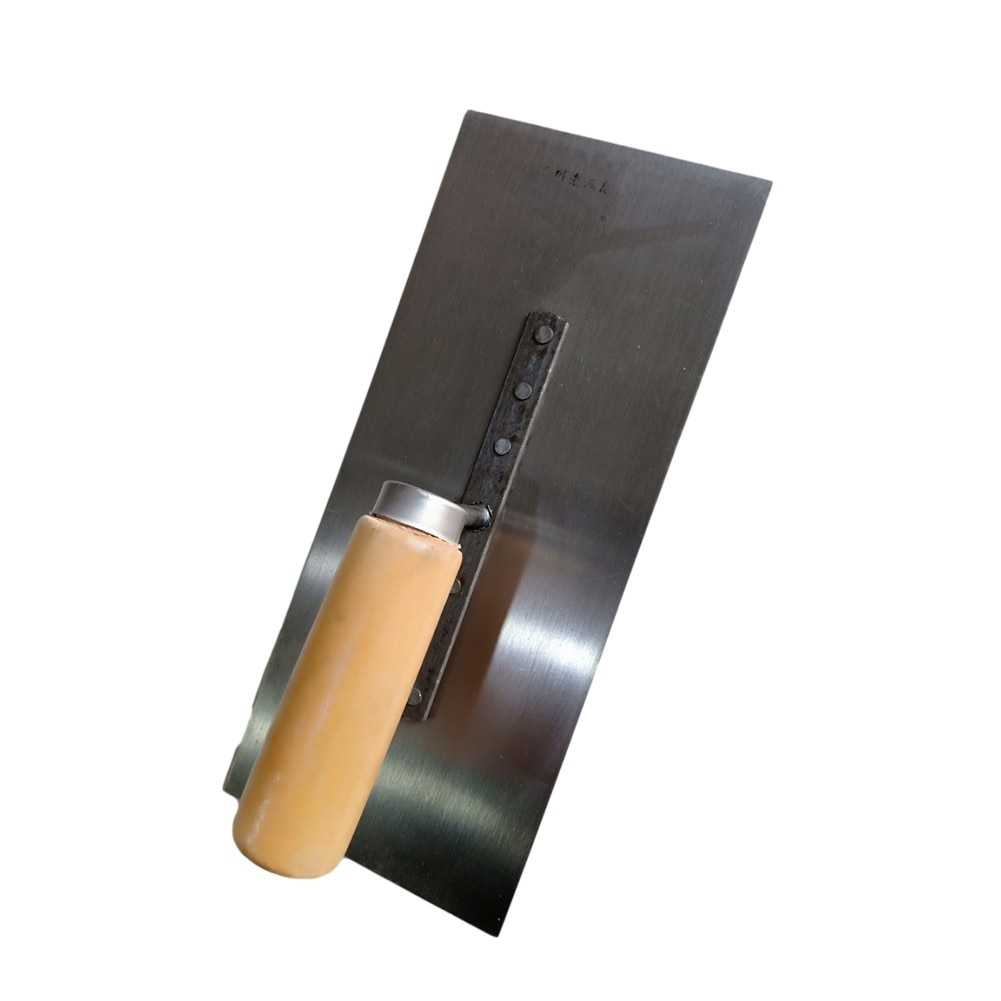 Finish Trowel Flat Construction Tool With Wooden Handle Trowel 11cm*26cm For Construction, Home DIY, Etc