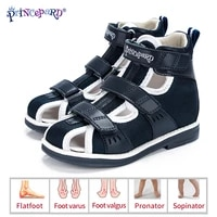 princepard spring summer kids orthopedic sandals 2020 new closed toe leather arch support correcting shoes toddler girls boys