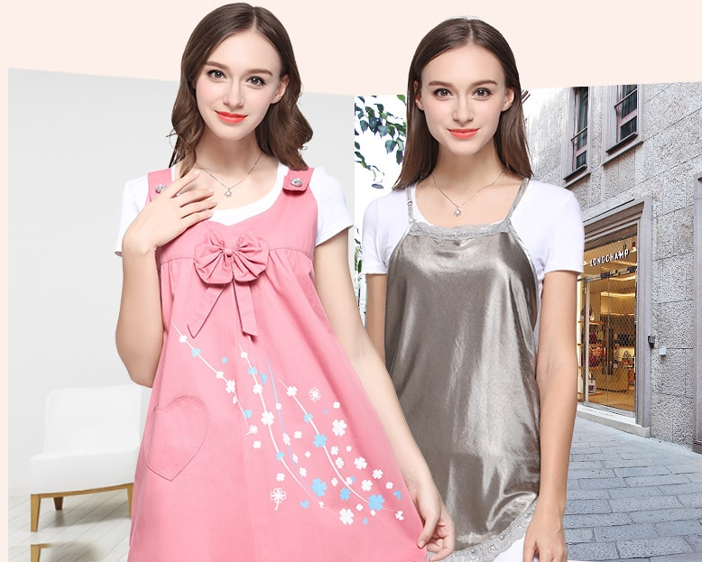 Double Layer Radiation Protection Maternity Suit Dress Printing Invisible Zipper Anti-radiation Apron Clothes Christmas GiftZL68 enlarge