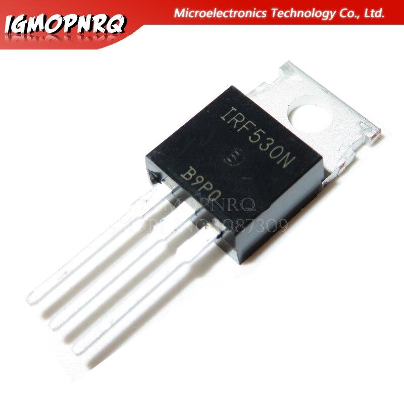10 Uds IRF530N IRF530 IRF530NPBF MOSFET MOSFT 100V 17A 90mOhm 24.7nC a-220 original nuevo