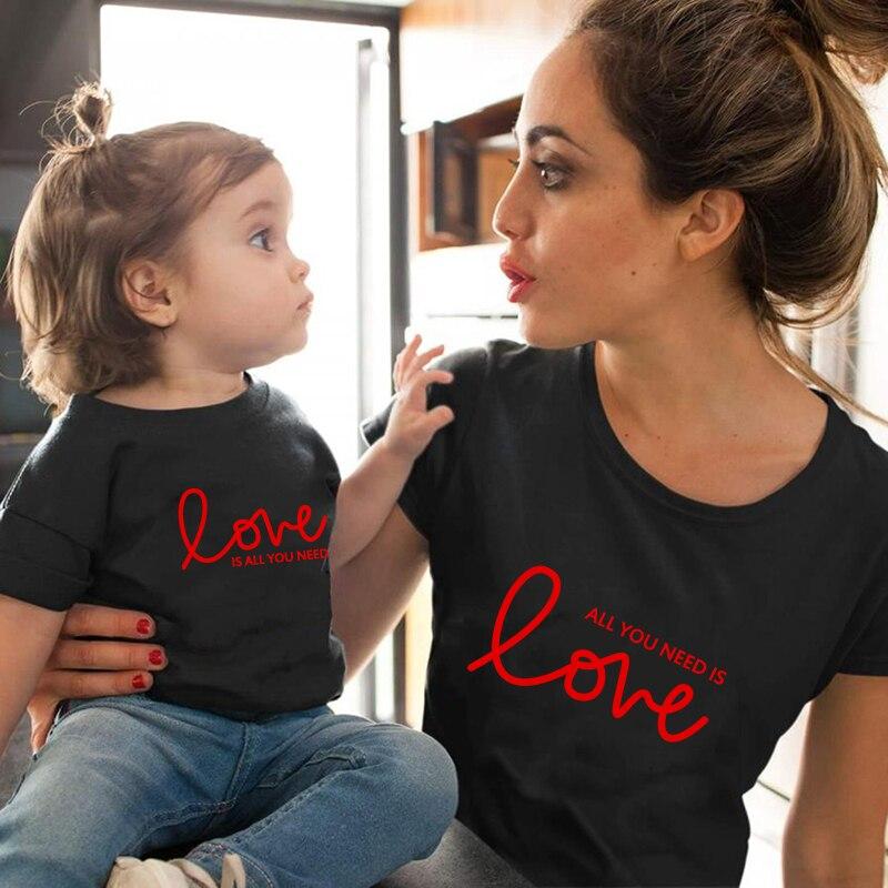Mãe e filha roupas combinando mãe e filha roupas de algodão família olhar meninas mãe mãe roupa