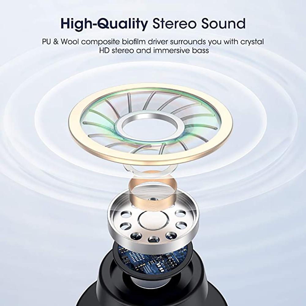 R22 Wireless Earbuds TWS 5.1 Bluetooth Earphone Wireless Headset Led Display IPX8 Waterproof 40 Hours HiFi Premium Sound Noise enlarge