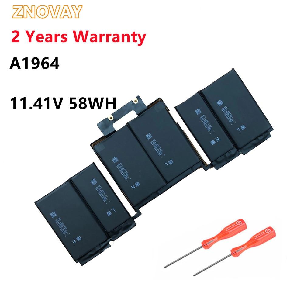 ZNOVAY A1964 original laptop battery for Apple macbook pro 2018 13 EMC3214 A1989 11.41V 58WH/5086mah