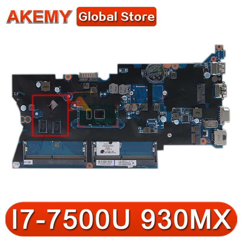 913101-001 913101-601 913101-501 DA0X81MB6E0 ل HP Probook 440 G4 اللوحة المحمول غيفورسي 930MX SR2ZV I7-7500U DDR4