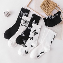 Custom Print Socks Funny Socks Girls Cartoon Socks Calcetines Fashion Kawaii Skarpetki Woman Chaussette Female Sock Set Lot
