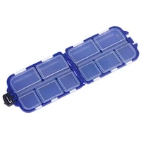 10 compartments fishing tackle box 2 layer fishing lure bait hooks plastic storage case sea fishing accessories tool box