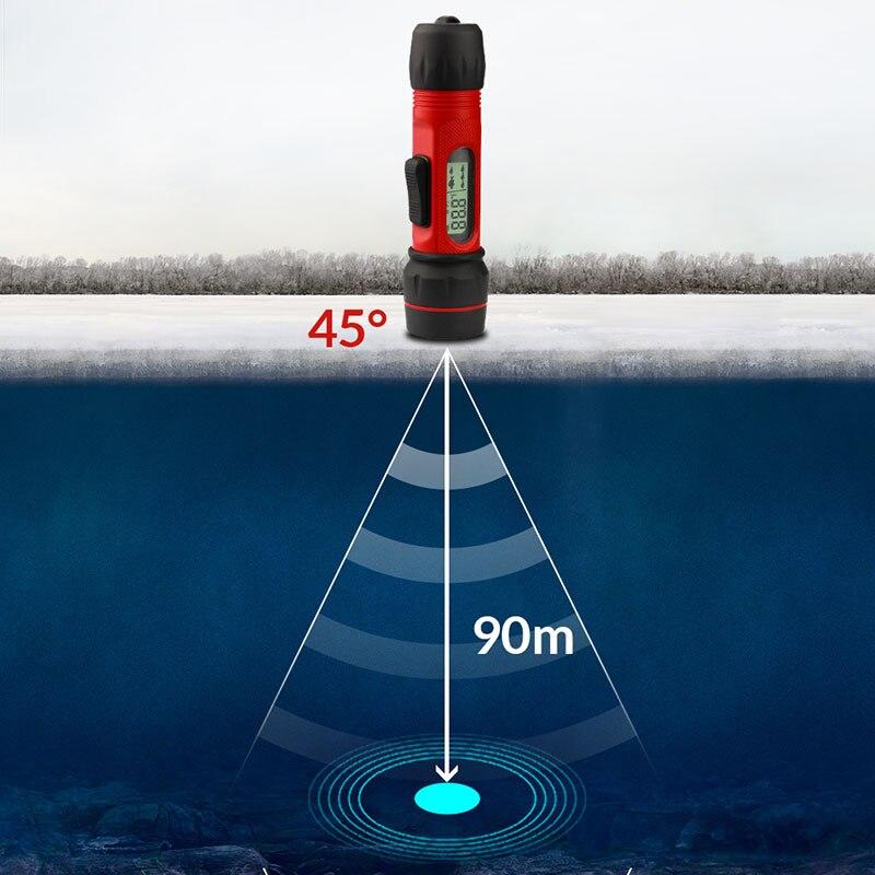 Erchang F12 Digital Handle Fish Finder Echo Sounder 100M Depth Portable Waterproof Sonar For Winter Ice Fishing