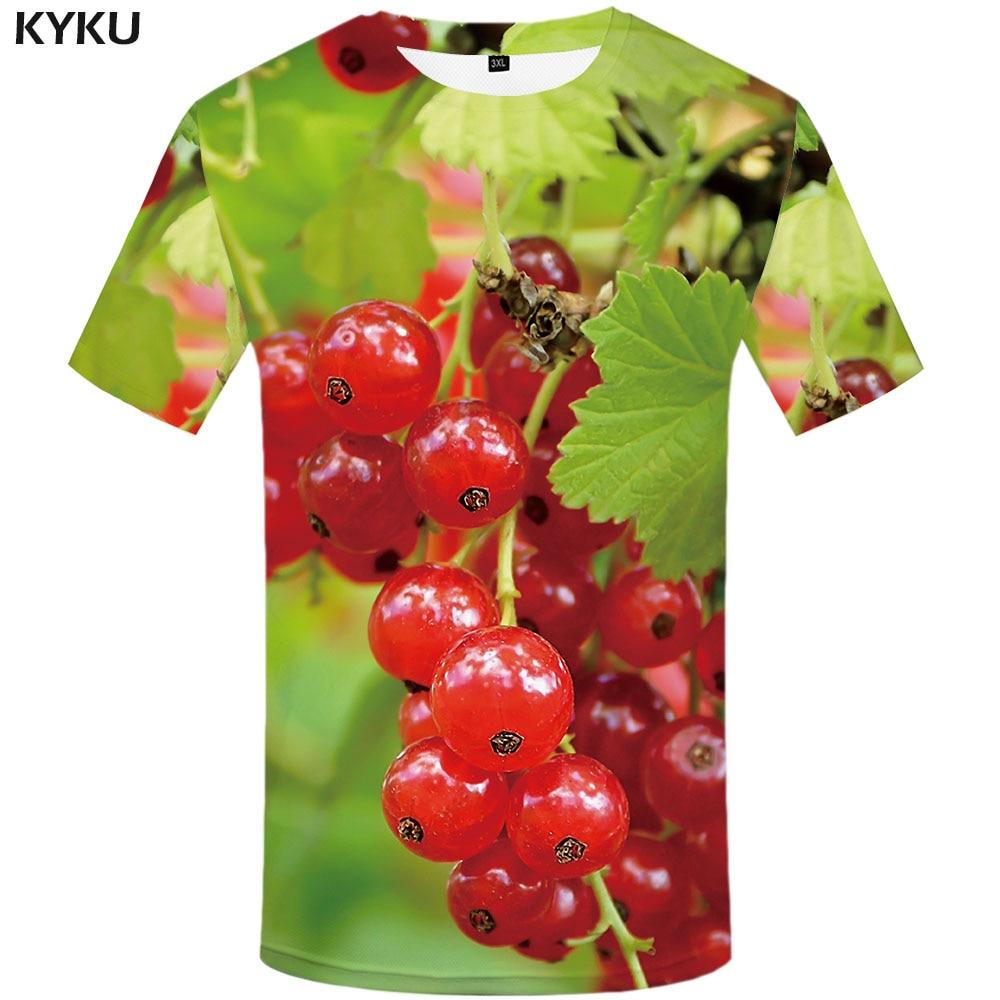 Camiseta 3d fruta Camiseta Hombre elemento camiseta impresa ocio camisa estampado movimiento divertido camisetas Anime ropa manga corta hip hop