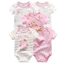 5 adet/grup erkek bebek kız giysileri Unisex 0-12M erkek bebek kız giysileri kısa kollu pamuklu bebek Bodysuits roupas de bebe