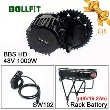 Bollfit Bafang BBSHD 48V 1000W 850C affichage mi moteur dentraînement E Kit de vélo 1000W Ebike Kit de Conversion avec fonction de batterie