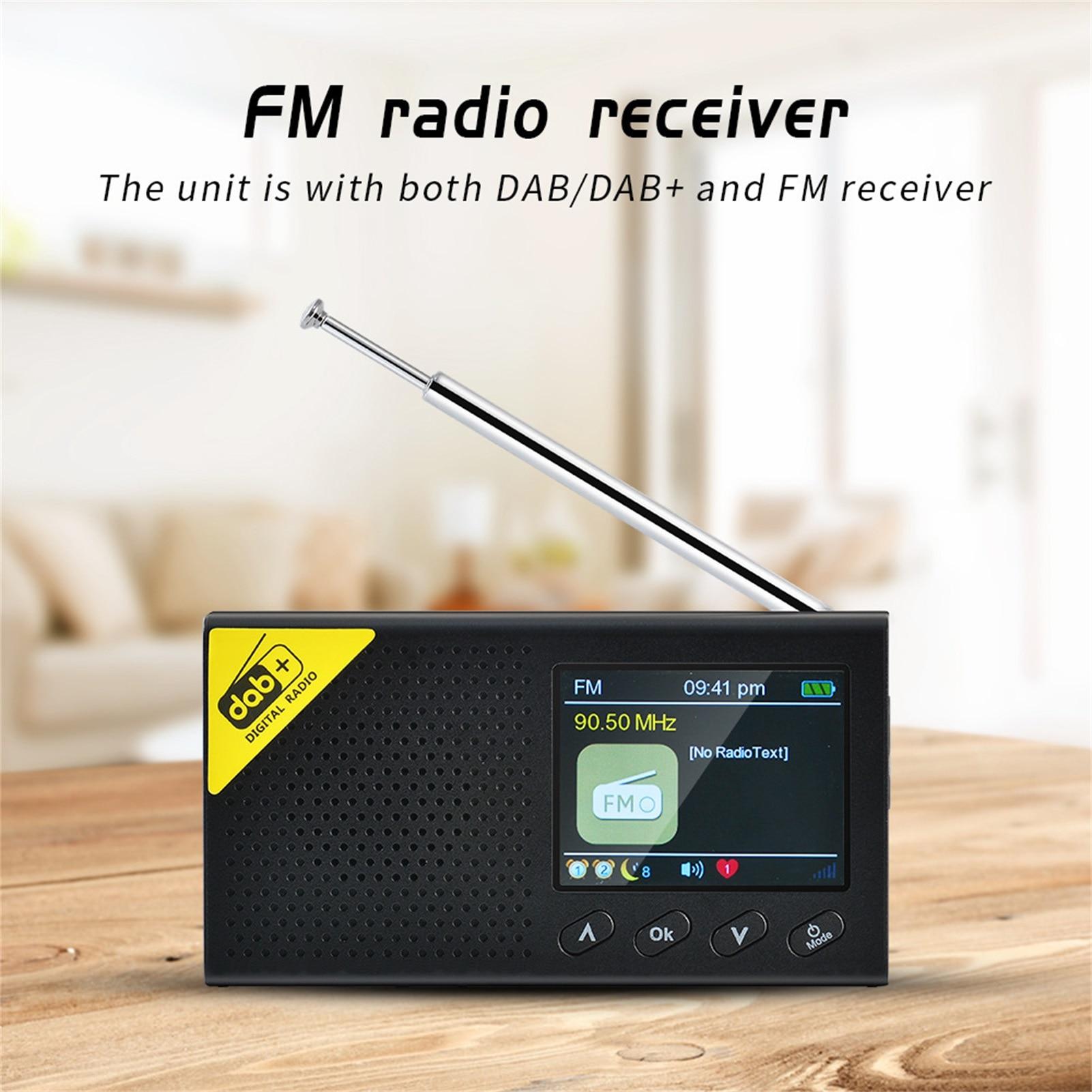 Цифровое портативное радиовещающее оборудование с цветным ЖК-экраном 2,4 дюйма DAB цифровое радиовещающее оборудование