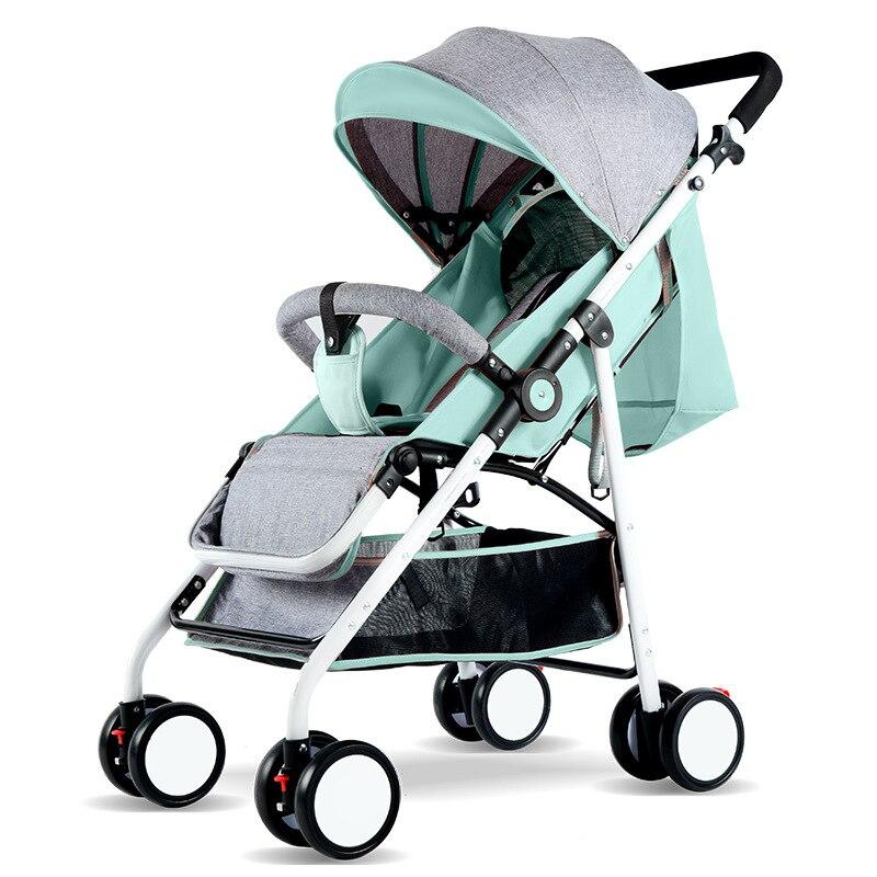 Фото - 2020 светильник Кая коляска Золотая рамка автомобильный портативный зонт-коляска детская коляска для новорожденных путешествия коляска на с... коляска