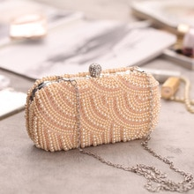 Handmade Beaded ExquisiteEvening Party Pearl Bag Clutch Bag Classic Fashion All-Match