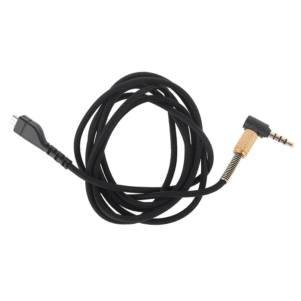 Replacement Stereo Audio Cable Extension Cord for SteelSeries Arctis 3 5 7 9X Pro Wireless Gaming Headphone Headset