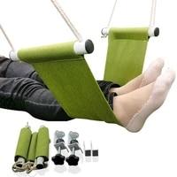 under desk foot hammock office adjustable home office study footrest desk swing travel foot hammock camping equipment