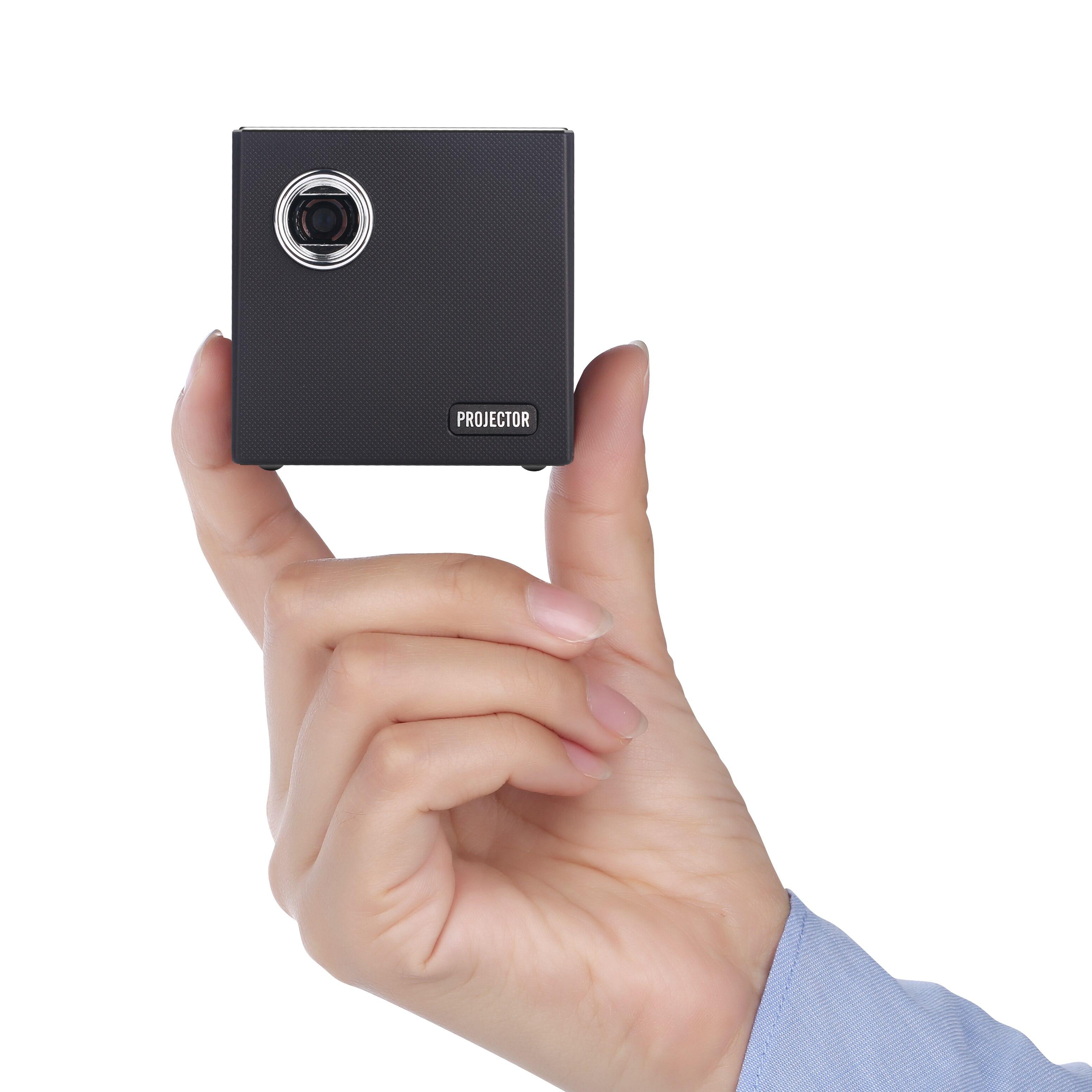 جهاز عرض صغير كيبورد 2019, آلة عرض صغيرة الحجم ، موديل رقم 854*480 ، تعمل بنظام أندرويد 7.1 ، قابلة للشحن ، مسرح منزلي ، يدعم تقنية 4k C80