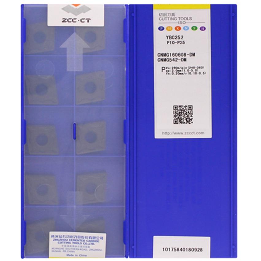 Pastilhas de Metal Zcc.ct Pçs – Caixa 10 Ybc252 Cnc Duro Cnmg160608-dm Ybc251cnmg160612-dm Ybc251cnmg160608-dm Ybc252cnmg160612-dm