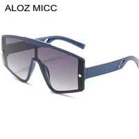 men sunglases rimless sun glasses women 2021 new oversized one piece glasses female frameless eyewear brand designer uv400 q882