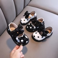 autumn girls leather shoes baby soft soled round toe leather shoes childrens shoes