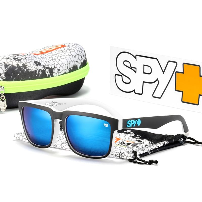 HELM Polarized Sunglasses Men Classic Square Unisex Sun Glasses Ken Block With Original Box Happy 43 Lense