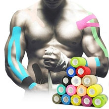 18 Colors Colorful Athletic Wrap Tape Self Adhesive Elastic Bandage Elastoplast Sports Protector Kne