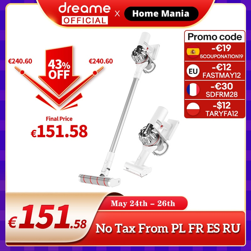 aliexpress.com - Dreame V9P Handheld Wireless Vacuum Cleaner Portable Cordless Cyclone Filter Carpet Dust Collector Carpet Sweep
